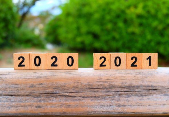 2020年から2021年へ